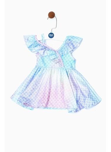 BG Baby Kız Bebek Desenli Elbise 19SS0BG2902 Renkli